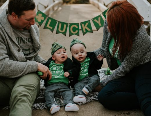 St Patrick's Day Twin Photos